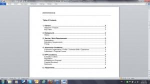 Short Form RFP Sample